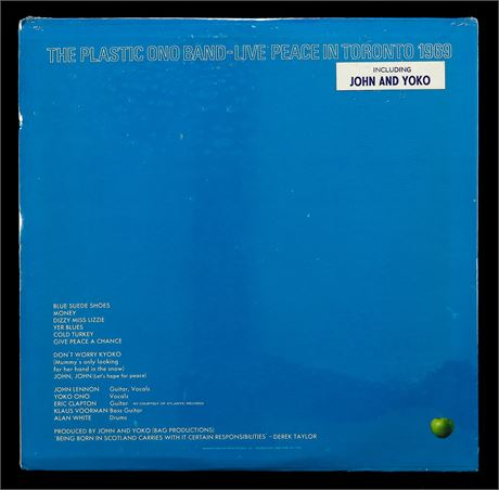 The Plastic Ono Band - Live Peace In Toronto - *SEALED* U.S. 1st Press LP