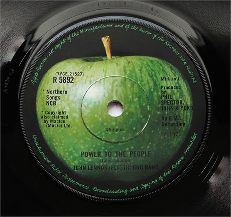 John Lennon - Power To The People - UK 1971 Apple Records 45