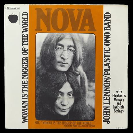 John Lennon - Woman Is the Nigger Of The World - FRANCE 1972 1st Press p/s NM
