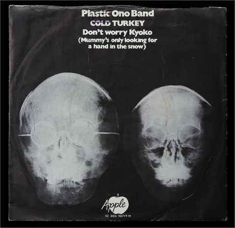 Plastic Ono Band - Cold Turkey - HOLLAND 1969 1st Press Apple p/s 45