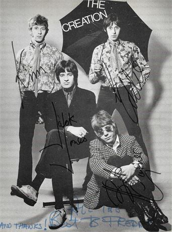 The Creation - 1967 UK Publicity Card - SIGNED by Four Original Members