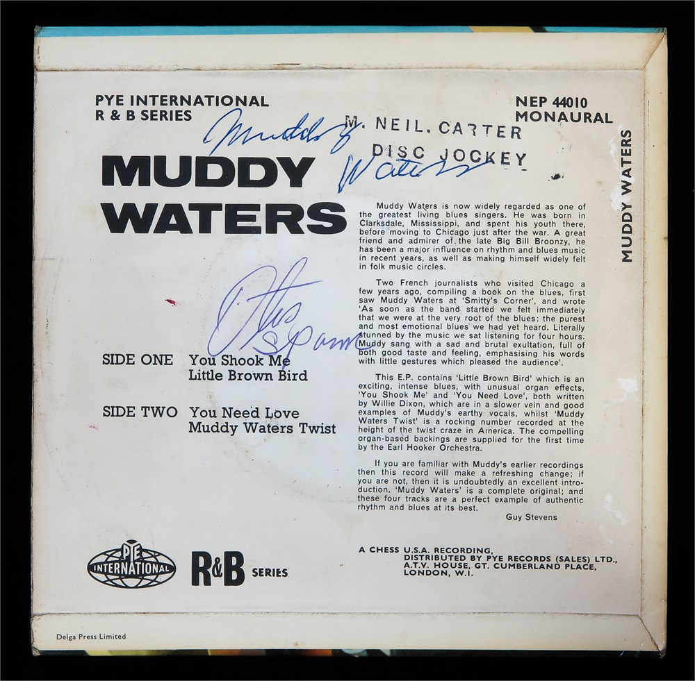 Parlogram Auctions Muddy Waters Otis Spann Signed