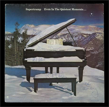 Supertramp - SIGNED 'Even In The Quietest Moments' 1977 UK LP