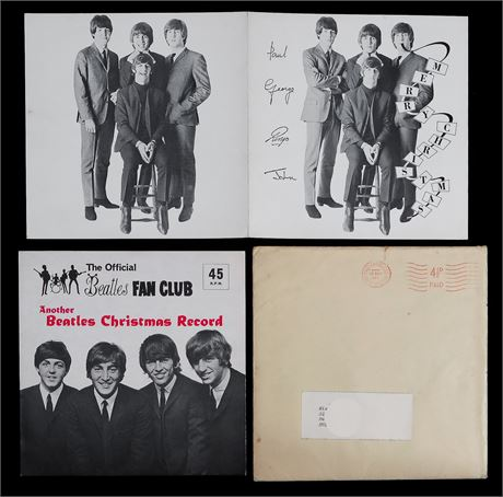 The Beatles - *MINT* 1964 UK Fan Club Xmas Flexi-Disc - Complete & Mailer