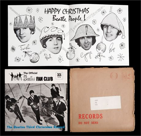 The Beatles - *MINT* 1965 UK Fan Club Xmas Flexi-Disc - Complete & Mailer