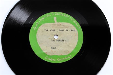 "The Berries - The King (Don't Be Cruel) - UK 1971 Apple 7"" ACETATE"