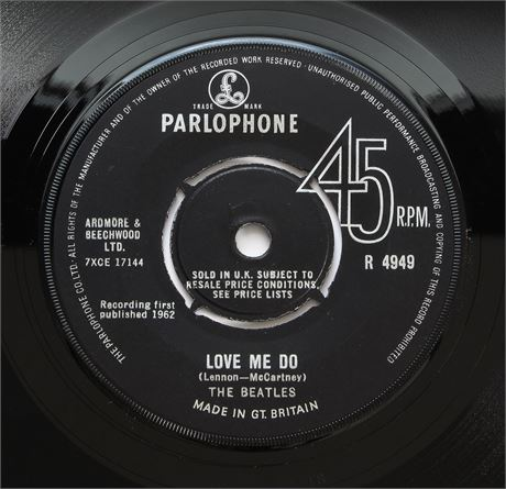 The Beatles - Love Me Do - UK Rare 1964 Press 45 NM + Shop Bag