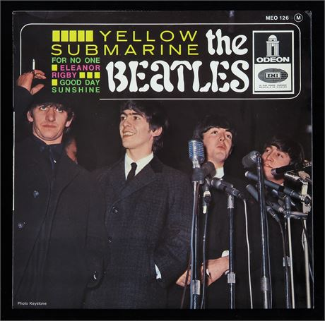 The Beatles - Yellow Submarine - UK 1966 French Odeon EP MINT