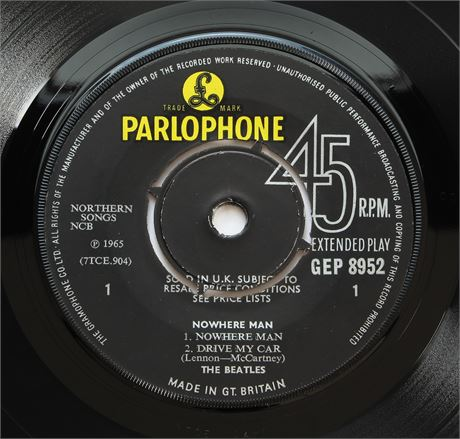 The Beatles - Nowhere Man - UK 1966 1st Press Parlophone EP NM