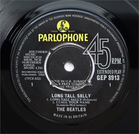 The Beatles - Long Tall Sally - UK 1964 1st Press Parlophone EP EX+