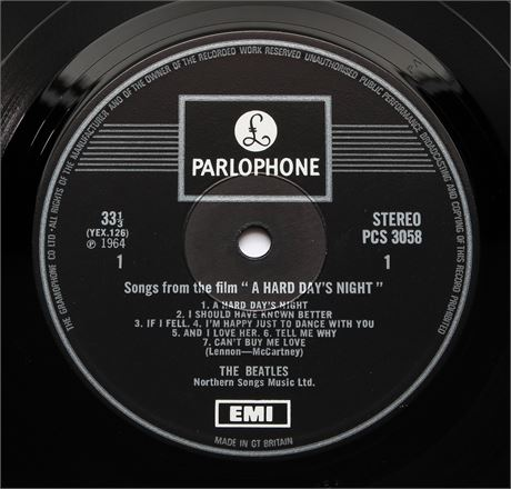 The Beatles - A Hard Day's Night - UK 1969 1-EMI Box Stereo LP EX+