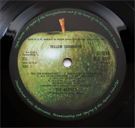The Beatles - Yellow Submarine - UK 1969 1st STEREO Press Apple LP MINT-