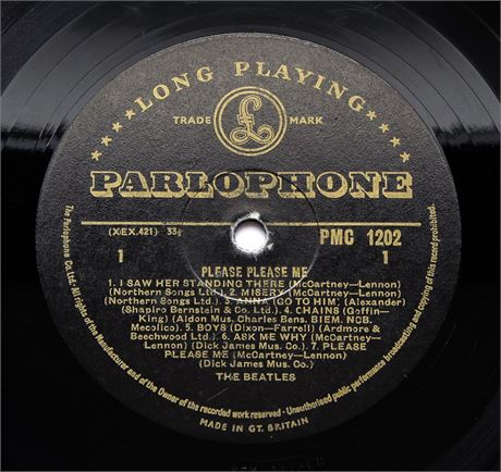 The Beatles - Please, Please Me - UK 1963 Gold Label 'Northern Songs' Labels LP
