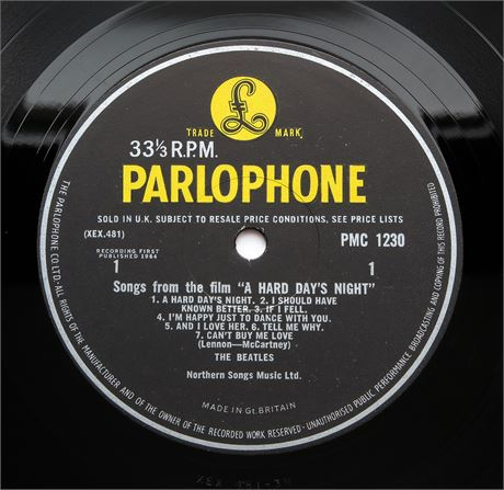 The Beatles - A Hard Day's Night - UK 1964 1st MONO Press LP EX+/M-