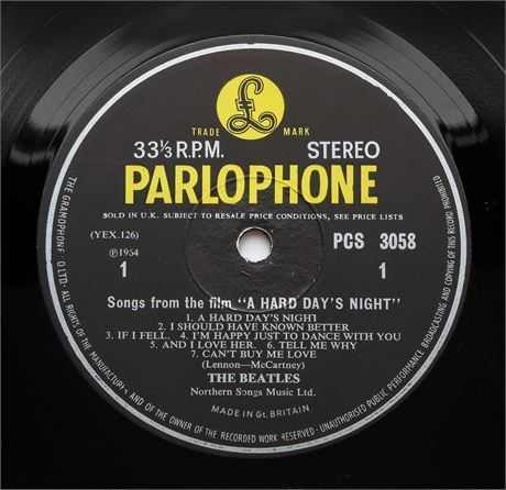 The Beatles - A Hard Day's Night - UK 1965 STEREO 2nd Press LP