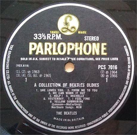 A Collection of Beatles Oldies - Rare UK Label Variation